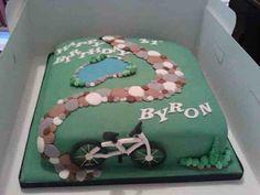 camp cake, cake stuff, cake idea, bicycl birthday, eat cake, birthday cakes
