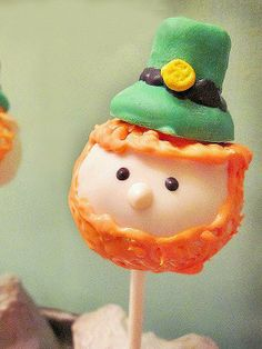Leprechaun cake pops!  http://greatideas.people.com/2014/03/12/saint-patricks-day-desserts-cocktails-recipes/