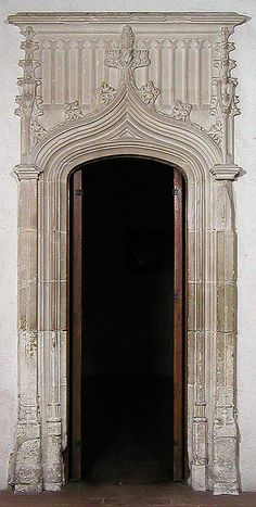 Doorway, mid-15th century style. French. The Metropolitan Museum of Art, New York. The Cloisters Collection, 1934 (34.20.3) #Cloisters