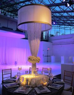 """The """"Crystal Lampshade"""" design at the Tribeca Rooftop the past weekend"""
