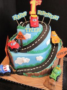 "Tonka Chuck & Friends Birthday Cake...(make a ""Cars"" theme instead though)"