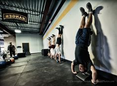 handstand push ups (hopefully I'll be able to do one by the end of the year!) handstand push, hspu, crossfit addict