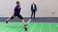Hopefully the first female athlete on LSUs football team.  Not a publicity stunt- shes that good!