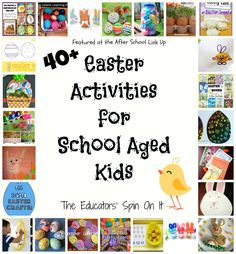 40 Easter Activities for Kids from The Educators' Spin On It