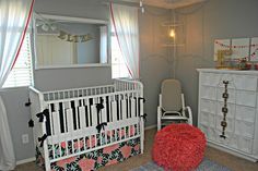 Classy Clutter: Recovering a Rocking Chair and Cute Nursery!