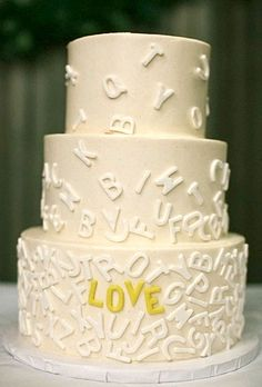 Alphabet Cake for baby shower