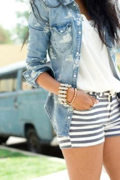 Stripes and Denim love.