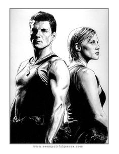 Starbuck and Apollo from BSG