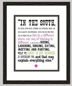 Southern Quote (Digital Print). $6.00, via Etsy.