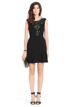 Jilleigh Embellished Bib Dress