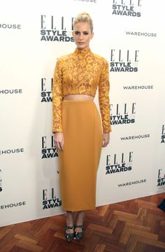 Poppy Delevingne attends the ELLE Style Awards 2014.