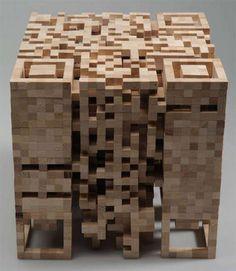 QR wood sculpture - the next level in QR codes