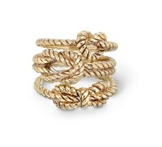 Fashion Piece: Nautical Knot Jewelry bling, rope knot ring, fashion, cloth, accessori, rope ring, gold rings, knots, closet
