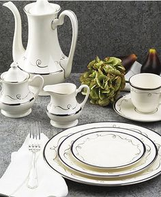 """Pickard """"Infinity"""" Dinnerware Collection - Fine China - Dining & Entertaining - Macy's"""