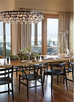 Airy Contemporary Dining Room by Jessica Helgerson