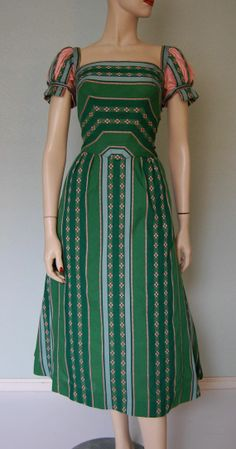 tina leser images | 1950s Tina Leser Cotton Party Dress Artistic by KittyGirlVintage,