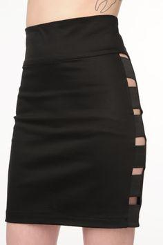 DIY bondage skirt.