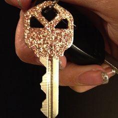Glitter keys! Seal with clear nail polish or acrylic sealer.