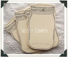 mason jar tag labels