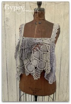 Refashion from old lace.  GREAT blog!