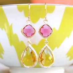 Pin it to Win it! Once every 4 years the Universe grants us one more day of style. Re-pin these Serena Pink & Canary Yellow earrings today (2/29/12) & tomorrow you could be rocking these stylish, vibrant colors of spring. Winner to be chosen at random.