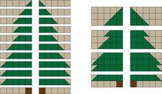 Christmas Tree Rag Quilt Pattern