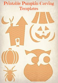 {Printable pumpkin carving templates}  #halloween #jackolantern