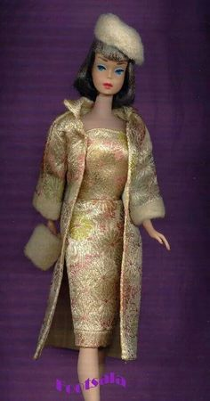 AG Barbie wearing a clone fashion from the collection of Gene Foote.
