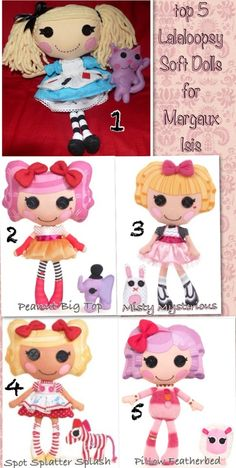 *ogles* 1) LaLaLoopsy inspired Alice in LaLaLoopsyLand Plush by AinsDesign (no barbies, or any doll that could set marg's standards of beauty)