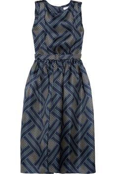 How to make a pencil-thin model look dumpy: Jonathan Saunders Renton printed silk-gazar dress NET-A-PORTER.COM
