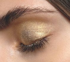 If you love nude eyeshadow, try a shimmery gold to add some texture and interest.