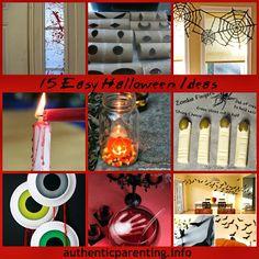 Authentic Parenting: 15 Easy Halloween Ideas