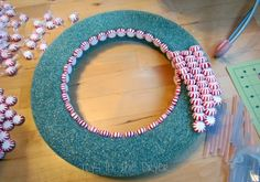 how to make wreaths with candy | how to make a wreath out of candy