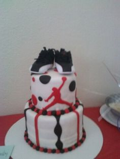 Jordan baby shower cake