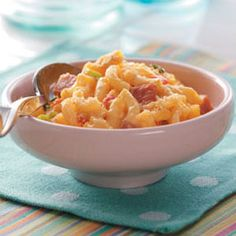Ham Mac and Cheese Recipe    Pair this creamy macaroni and cheese with a light salad for an easy weeknight meal.