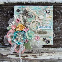 Memories Canvas by Lynne Forsythe - canvas home basics 6x6 stretched canvas - add Tattered Angels Mists, Prima Flowers and Lynne's touch and you have this amazing project.  Stretched canvases available in a wide range of sizes - chunky or regular www.shopcanvascorpbrands.com