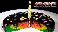 Mini Rainbow Birthday Cake Recipe !