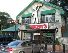 My favorite pizza place (round pie) on Long Island. Little Vincent's Ronkonkoma. yeah buddy!