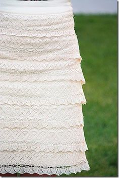 Make a lace skirt? Tell me how.