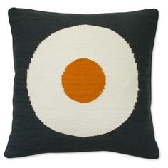 Jonathan Adler Lucky Strike Pillow Mustard And Grey in Pop Pillows