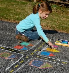 Sidewalk chalk! Great unplugged activity idea for Screen Free Week.