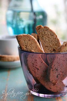 Vegan and gluten free biscotti