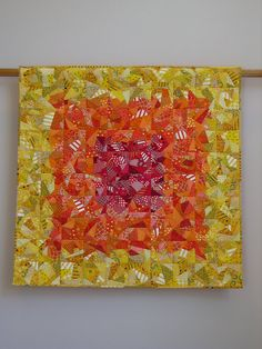 Who Ordered Chaos wall quilt by tina curran