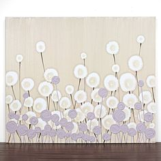 Lavender Flower Painting  Textured Acrylic Art on by Amborela, $95.00