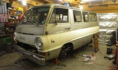 1966 Dodge A100 Custom Sportsman Van, what a fun looking project!
