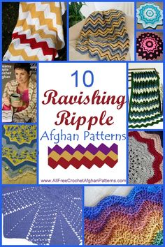Newly Updated: 10 Ripple Crochet Afghans