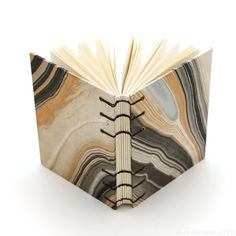 Black and Gold Journal - Coptic Stitch with Exposed Spine by Ruth Bleakley - #bookbinding