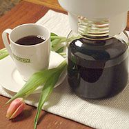 Toddy cold brewed coffee system ($40) - cold brewing takes all day but produces a much less acid drink.