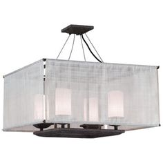"Raffia Collection Weathered Bark 24"" Wide Ceiling Light | LampsPlus.com"