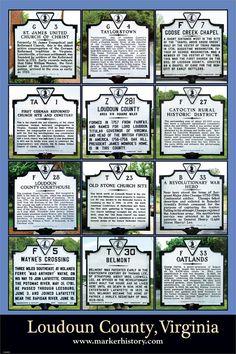 Loudoun County, VA historical markers